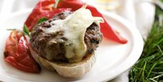 Minty Lamb Burgers with Gooey Cheese. Grill or barbecue. Guaranteed to impress friends.