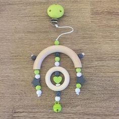 Mobile - Holz Mobile´s zB für Zwillinge in gelb und grün - ein Designerstück von Steffi-Design bei DaWanda