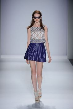Nicole Miller Spring 2013 Ready-to-Wear - Look 6 [Love the skirt, the top, not so much.]