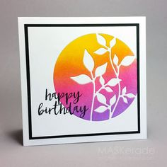 Congratulations to this week's Splitcoaststampers' Featured Stamper, AnniePanda! She has an amazing gallery here. I chose this card as my inspiration: I focused on Annie's: -leaf theme -blended colou