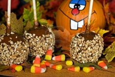 Image detail for -Autumn Caramel Apples With Funny Face Pumpkin. Royalty Free Stock ...