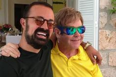 Elton John wearing Parasite limited edition Crown sunglasses.