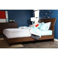 South Shore Olly Queen Platform Bed | from hayneedle.com
