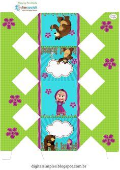 Kit Festa Aniversário Masha e o Urso - Convites Digitais Simples Marsha And The Bear, Bear Party, 2nd Birthday, Alice, Clip Art, Kids Rugs, Floral, Crafts, Frozen