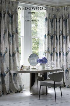 Wedgwood Home Fabrics & Wallcoverings Vol.1 Collection by Blendworth Fabrics. #Blendworth #Fabric #Wedgwood #Wallpaper #InteriorDesign