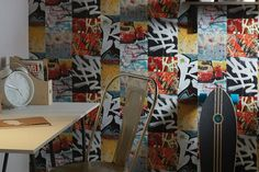 Berlin Graffiti   Tapeten der 70er