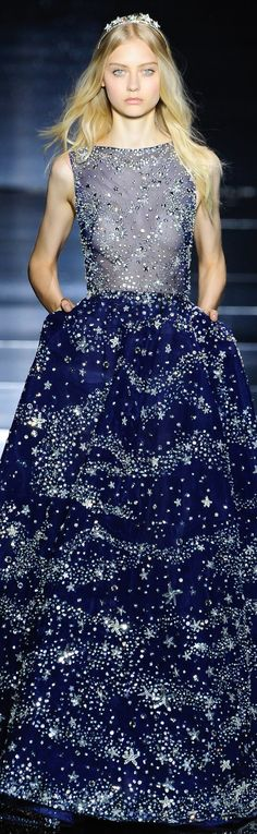 The ocean and the sky.....and the sparkles  :)Zuhair Murad fall 2015 couture
