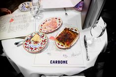 The Carbone menu let the side plates shine