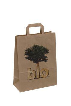 250 x Papier Tragetasche, Bio, 26 + 12 x 35 cm. Shops, Super, Paper Shopping Bag, Packaging, Bags, Typography, Handbags, Tents, Retail