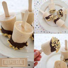Frozen Chocolate Peanut Butter Banana Greek Yogurt Pops
