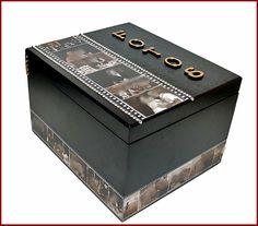 Caixa personalizada com fotos para 432 fotos (12 albuns)