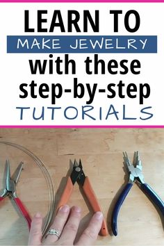 Want to learn how to make jewelry but feel overwhelmed? This online course is made for you! Jumpstart your DIY journey with just a few tools & supplies. Get step-by-step directions for some simple ski Diy Jewelry Unique, Metal Jewelry, Jewelry Box, Jewelry Hanger, Girls Jewelry, Jewelry Armoire, Diy Jewelry With Beads, Pandora Jewelry, Make Jewelry