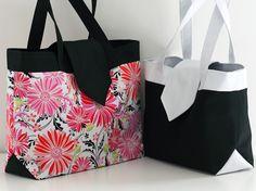 Madison est un sac élégant et pratique grâce à une poche séparatrice zippée qui organise l'intérieur en 3 parties. Le patron de sac inclus deux tailles !