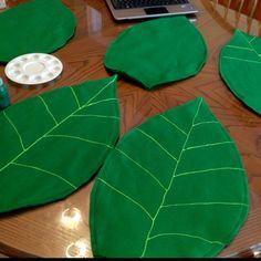 Leaves. For flower costume