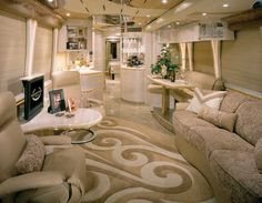 Marathon Coach Luxury Prevost Bus Conversions Manufacture--Wow so exquisite!! And for sure a couple cupsy's are needed...