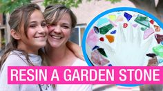 ArtResin Memory Lane - Learn how to make and protect a garden stepping stone with #nontoxic #epoxyresin! Mother-daughter #resinartist team Tracey and Mackenna will show you how to make this fun #diyproject!