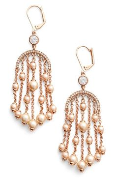 kate spade new york 'pearls of wisdom' chandelier earrings available at #Nordstrom
