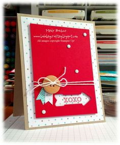 I found this on stampinup.com. Really love this card and love the idea of using the framelit as a frame.  How cool is that!
