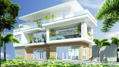 Nhà mặt phố xanh