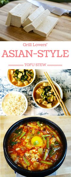 Grill Lovers' Amazing Asian-Style Tofu Stew   #recipes #foodporn #foodie