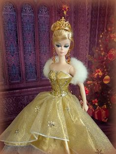 2000 Holiday Barbie dress on 2010 Tribute BFMC doll | Flickr - Photo Sharing!