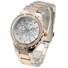 FW836D New Rose Gold + PNP Band White Dial Women Water Resistant  Bracelet Watch