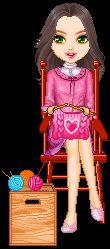 Candy Doll Animadas: Candy dolls fazendo crochê
