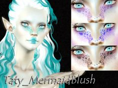 My Sims 3 Blog: Mermaid Blush, Eyes and Body & Face Makeup by Taty86