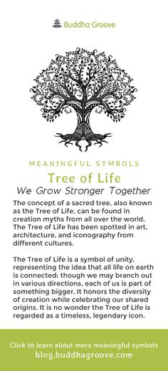 Meaningful Symbols A Guide to Sacred Imagery - Tree of Life - We grow stronger together Tree Of Life Meaning, Tree Of Life Symbol, Celtic Tree Of Life, Tree Of Life Quotes, Tree Of Life Pictures, Buddhism Symbols, Spiritual Symbols, Sacred Symbols, Symbols Of Life