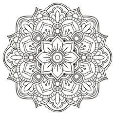 Flower Mandala Doodle Doodle Is Art – Coloring Mandalas Mandala Doodle, Art Doodle, Lotus Mandala, Mandala Rocks, Henna Mandala, Mandala Print, Doodle Drawings, Croquis Mandala, Mandalas Drawing