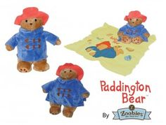 Paddington Bear Zoobie    The Zoobies® team has worked hard to bring Michael Bond's storybook character to life. Not only is Paddington™ a plush toy, but also a pillow with a uniquely printed cozy coral fleece blanket zipped inside.    $54.95