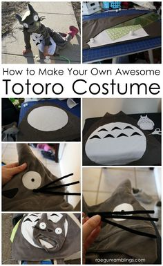 Step by step instructions for how to make a Totoro costume - Rae Gun Ramblings for Sew Geeky (ermahgerd I just love Marisa!)