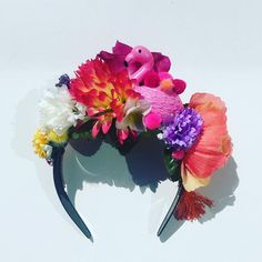 Flamingo Tropical Floral Flower Crown Festival Head Dress Hair – My CMS Havana Party, Havana Nights Party, Floral Crown, Floral Flowers, Black Hair Band, Flamingo Toy, Diy Tiara, Cuban Party, Diy Crown