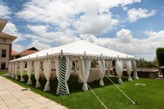 A tent set-up at the Gallery Bar Terrace at The Campus