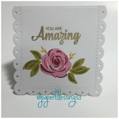 #handmadecard #diecutting #stamping #paperblessings3 #papertrayink #wplus9