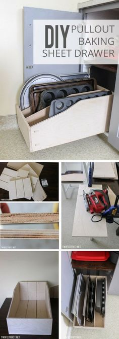 Check out the tutorial: #DIY Pullout Baking Sheet Drawer /istandarddesign/
