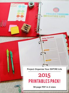 """Project Organize Your ENTIRE Life"" Planner Printables Now Available!"