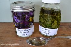 Lemon Balm and Violet Tinctures - Herbal Academy of New England