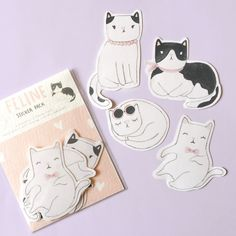 Hand drawn stickers. Each pack contains 4 cute cats, 2 pieces each design. Shipping every Tuesday and Friday. Shipping can take 2-4 weeks depends on where you are using Pos Indonesia tracked mail service.