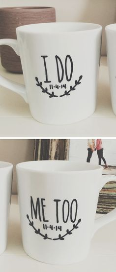 Custom wedding coffee mugs