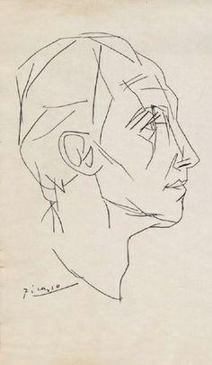 portrait of paul eluard::pablo picasso Pablo Picasso Drawings, Picasso Sketches, Picasso Portraits, Picasso Art, Art Drawings, Henri Matisse, Henri Rousseau, Figure Drawing, Line Drawing
