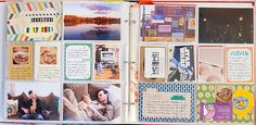 Want to make a memory book for mike and i with a similar layout.
