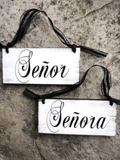 senor senora wedding signs - Google Search