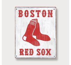 Boston Red Sox  Distressed Rustic Wood sign  by twoTrainsRunning