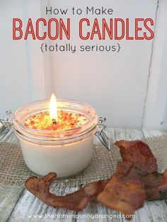 Listen…this is happening. You read that right. Bacon candles are a thing, and you are going to learn how to make bacon candles of your own. What happens when you learn how to make bacon candles? People get jealous. Really jealous. I am telling you this now so there are no surprises later. I know …