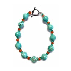 Turquoise Leila Bracelet ($70) ❤ liked on Polyvore featuring jewelry, bracelets, turquoise blue jewellery, turquoise jewellery, adjustable bangles, green turquoise jewelry and blue turquoise jewelry