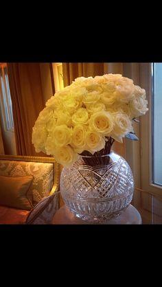 Waterfordcrystal vase by Jeff Leatham
