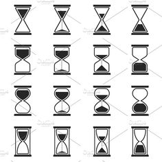 Sandglass and hourglass vector icons Graphics Sandglass and hourglass vector icons. Arc by Microvector Dreieckiges Tattoos, Daddy Tattoos, Symbol Tattoos, Time Tattoos, Tattoo Fonts, Tattoos For Guys, Finger Tattoos, Hourglass Drawing, Hourglass Tattoo