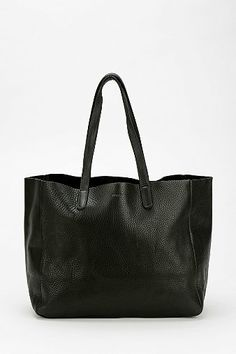 Urban Outfitters / BAGGU Oversized Leather Tote Bag / A big black bag that looks so sleek no one will guess how much crap you really have in there!