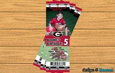 Georgia Bulldogs Football Ticket Any Team  by designsanddecors, $19.00